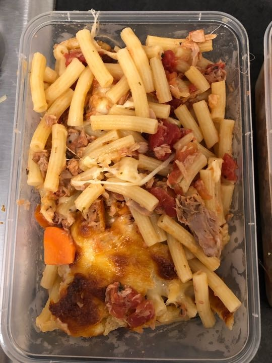 Homemade cheesy tuna pasta bake - 1 portion remaining (other 2 being picked up)