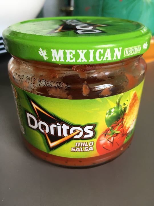 1/2 jar doritos Mexican mild salsa