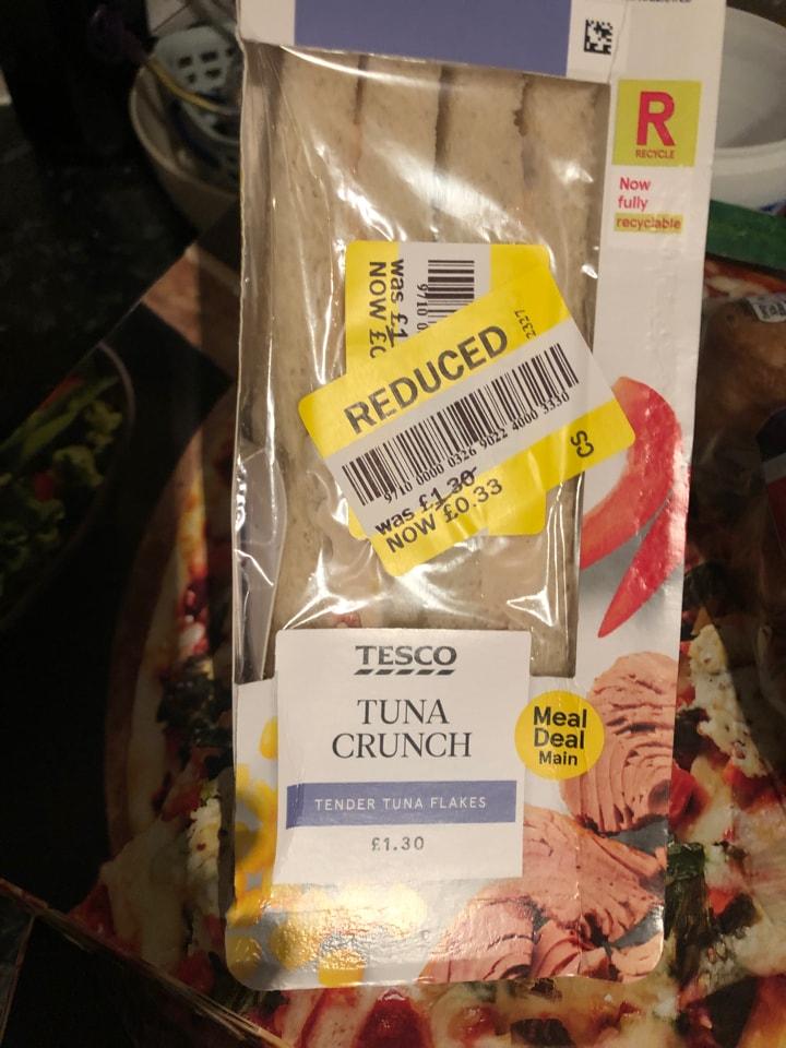 Tesco-tuna crunch sandwich