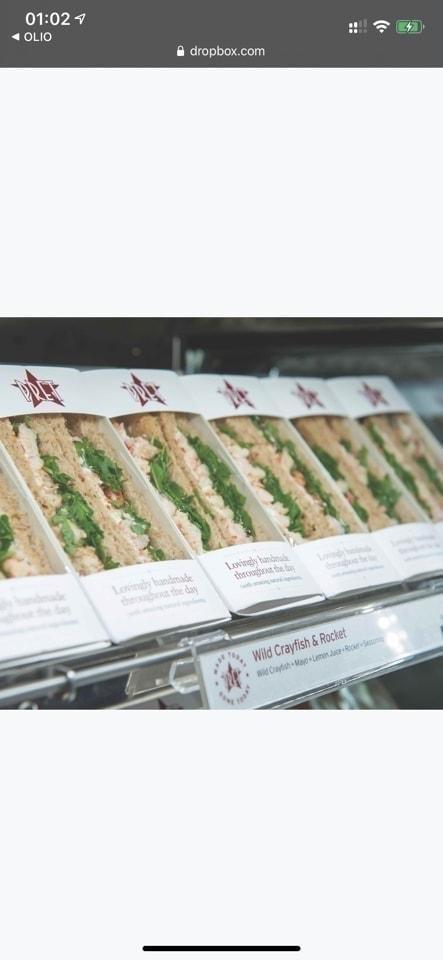 Pret tuna cucumber sandwich