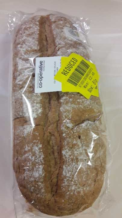 Co-op brown organic bloomer