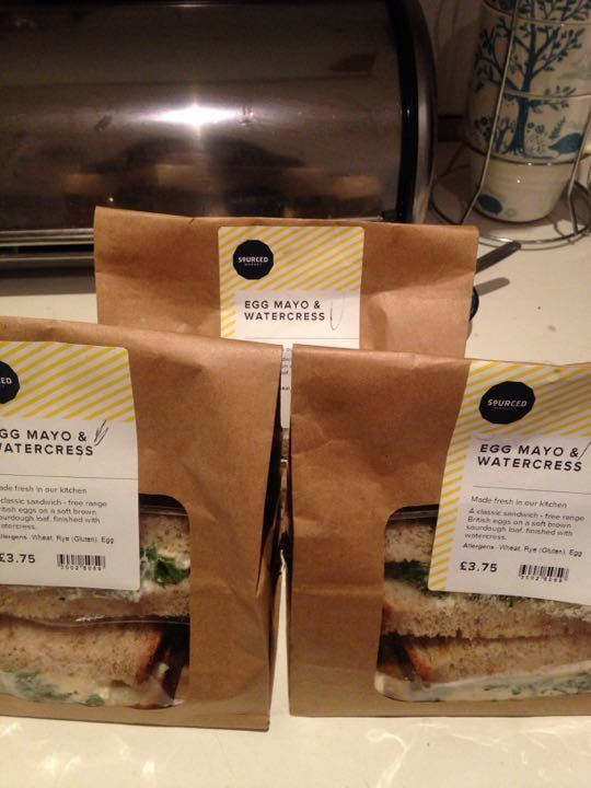 egg and watercress sandwiches from Sourced