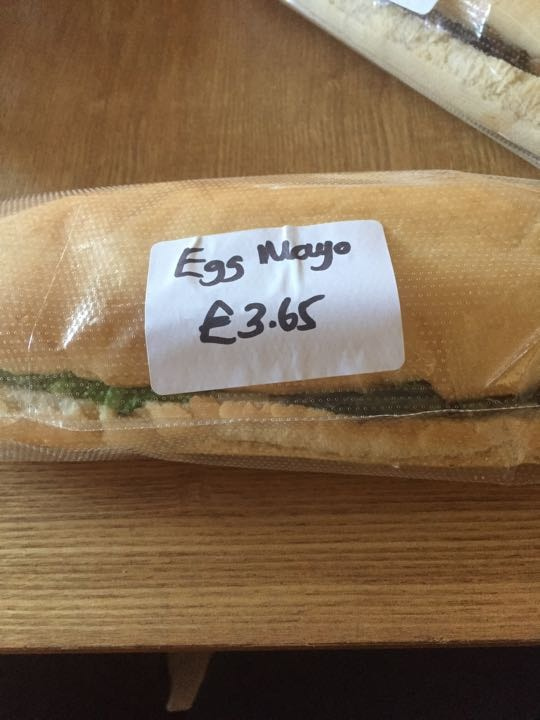 Egg mayo baguette