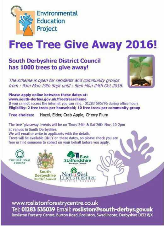 Free  native fruit and nut trees for South Derbyshire residents and community groups
