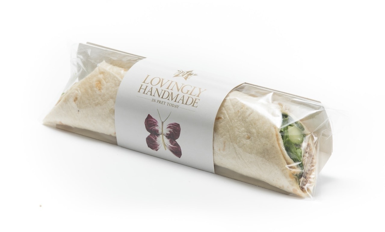 Pret  humous and chipotle wrap