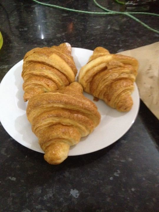 Lovely croissants donated by Woodstoke cafe