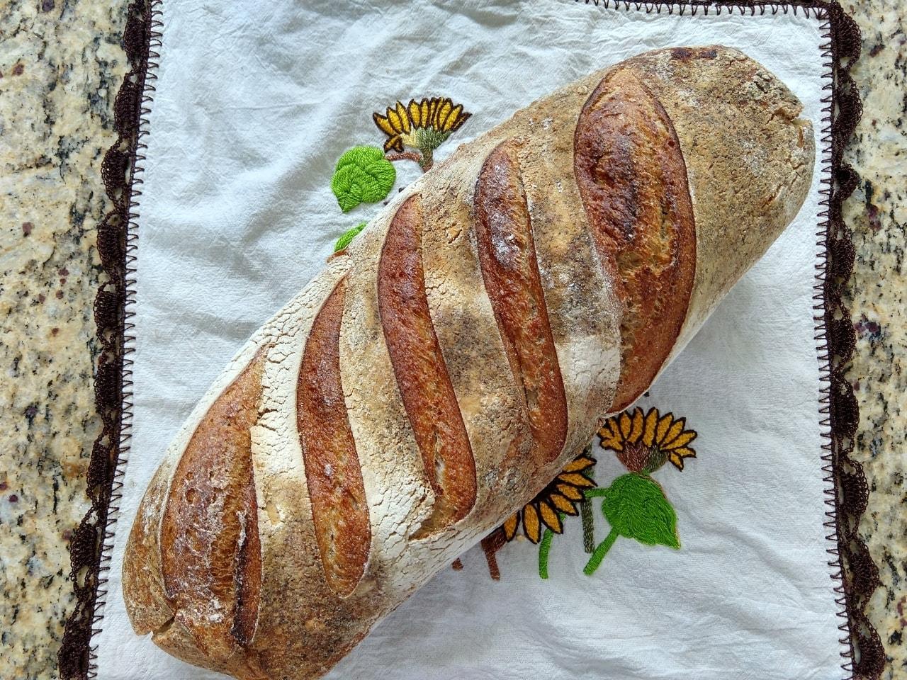 Hogaza de pan blanco