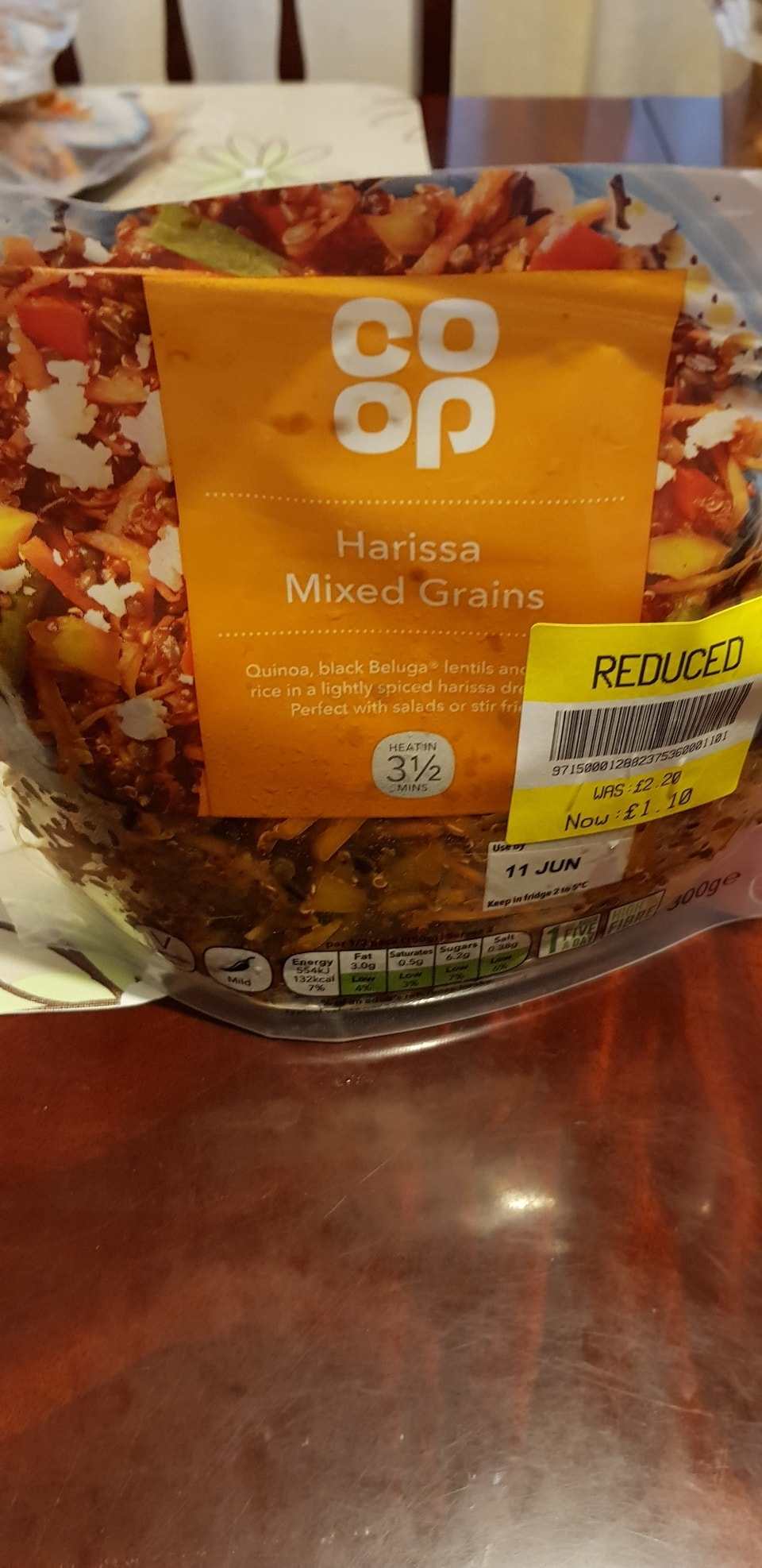 Harissa mixed grains