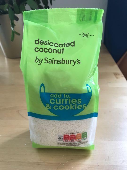 250g bag of desiccated coconut