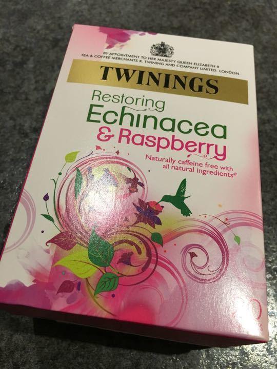Echinacea  and raspberry tea bags