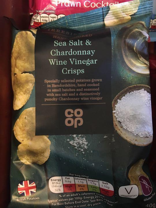 Coop salt and vinegar crisps x3