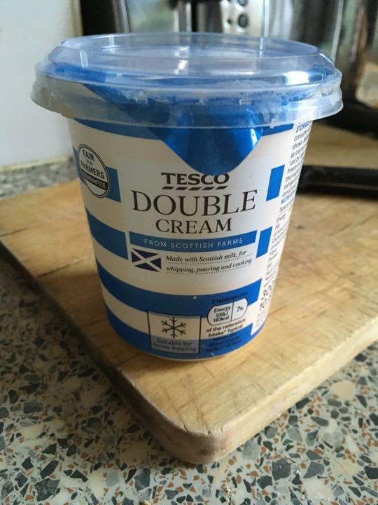 100ml of double cream left