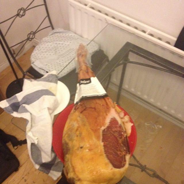 Leg of Serrano ham