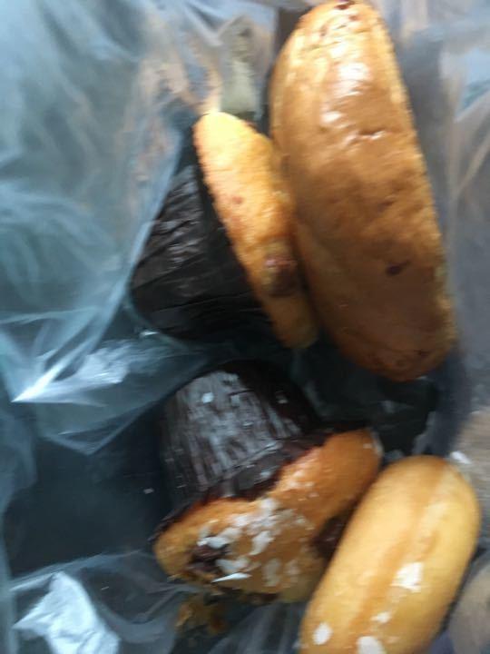2 muffins 1 doughnut 1 bagel