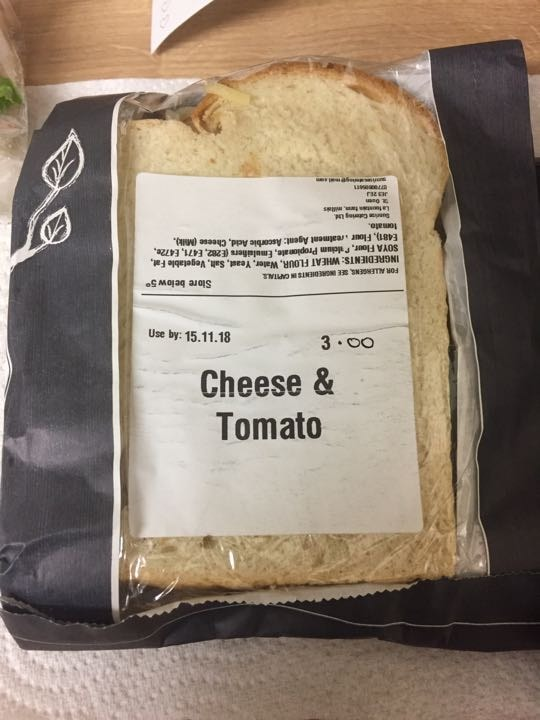 Cheese and tomato on white