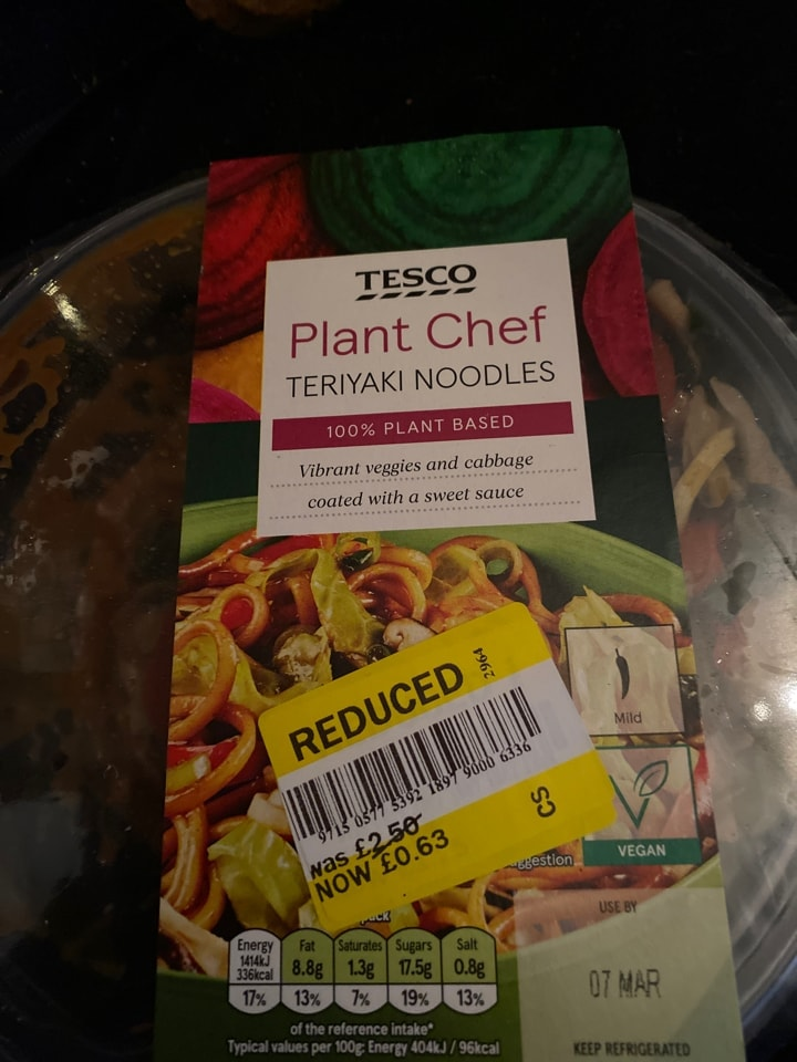 Plant chef teriyaki noddles