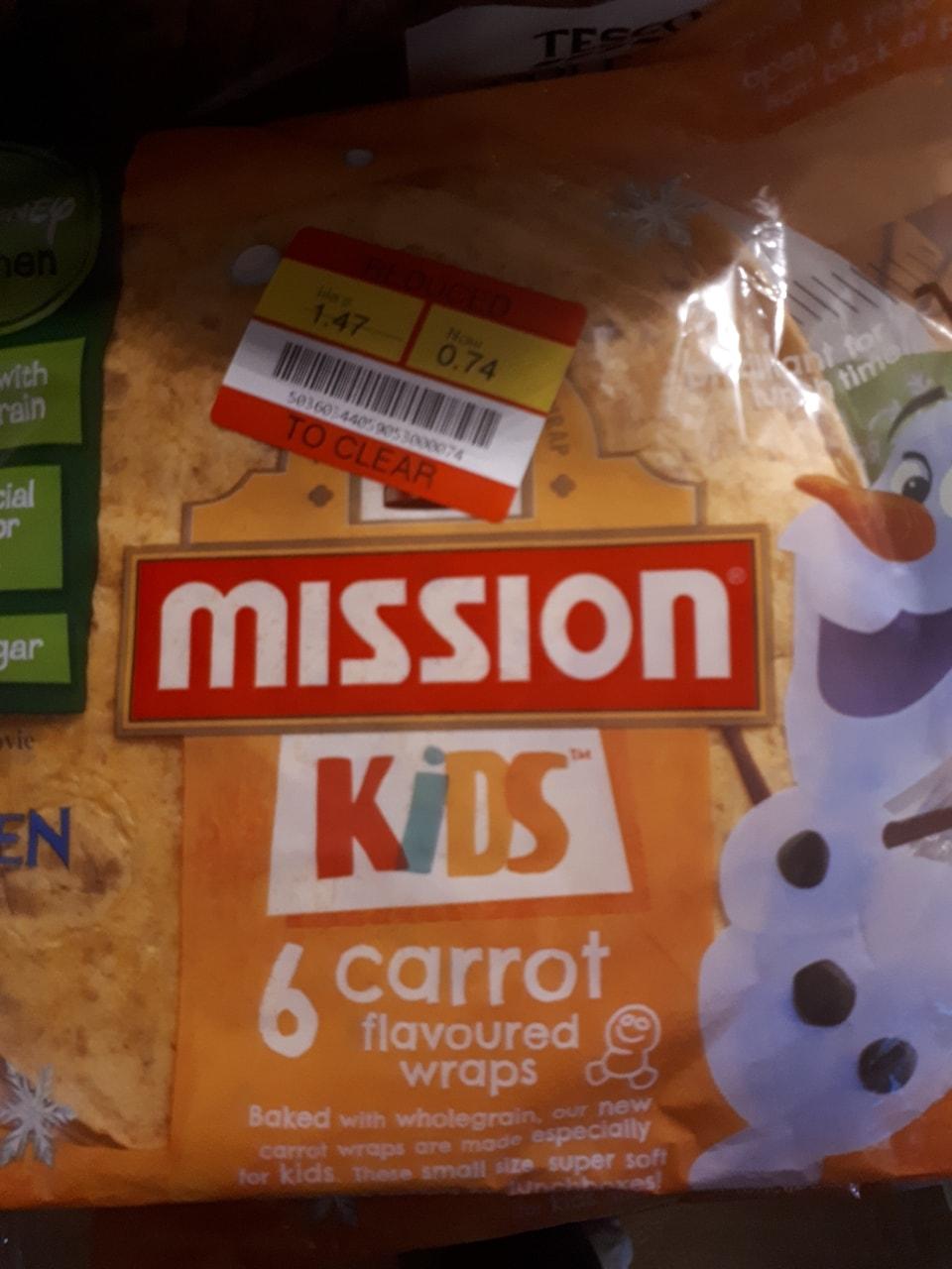 Carrot wraps