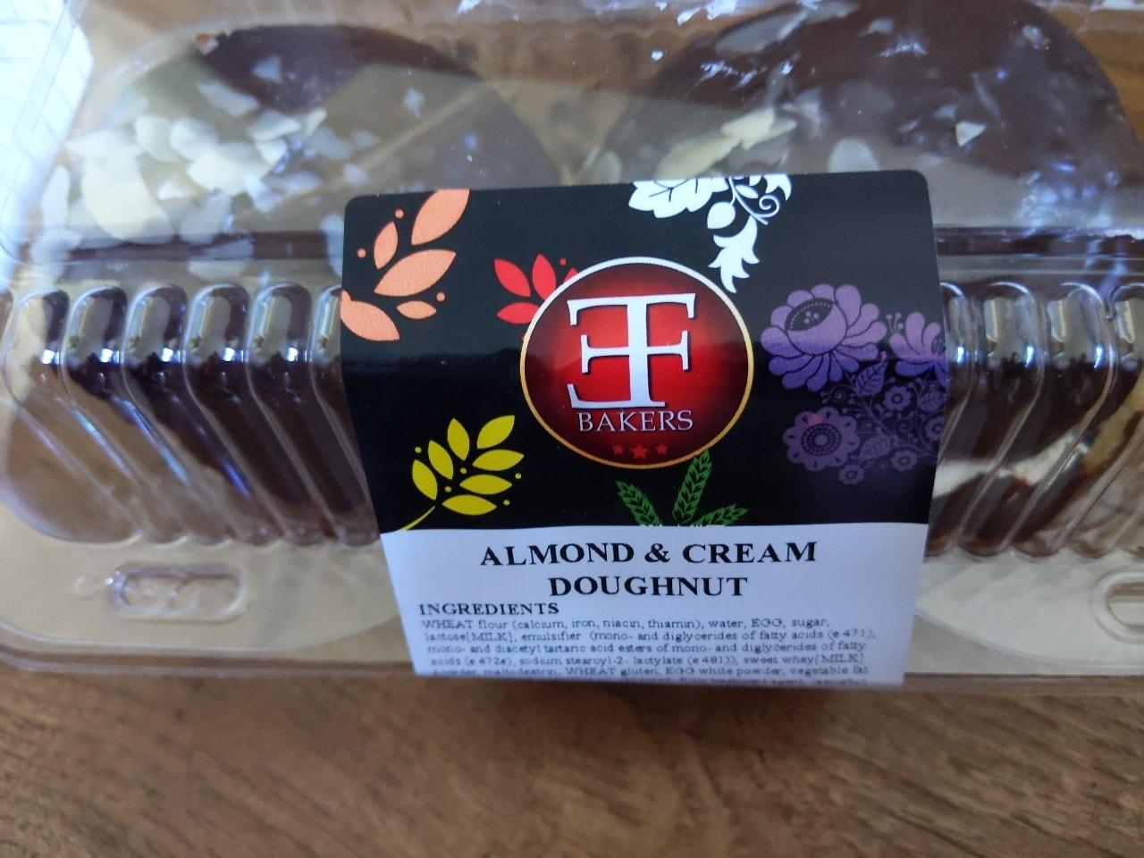 Almond and cream doughnuts