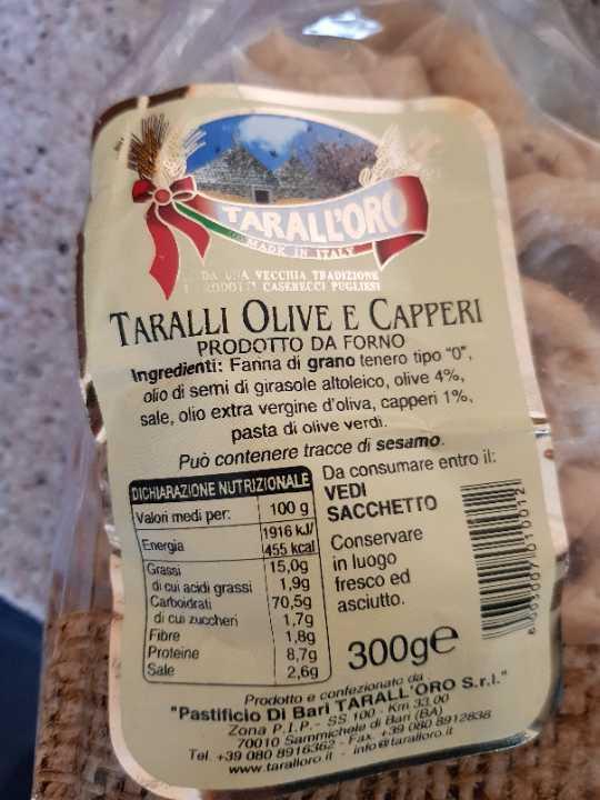Taralli olive e capperi