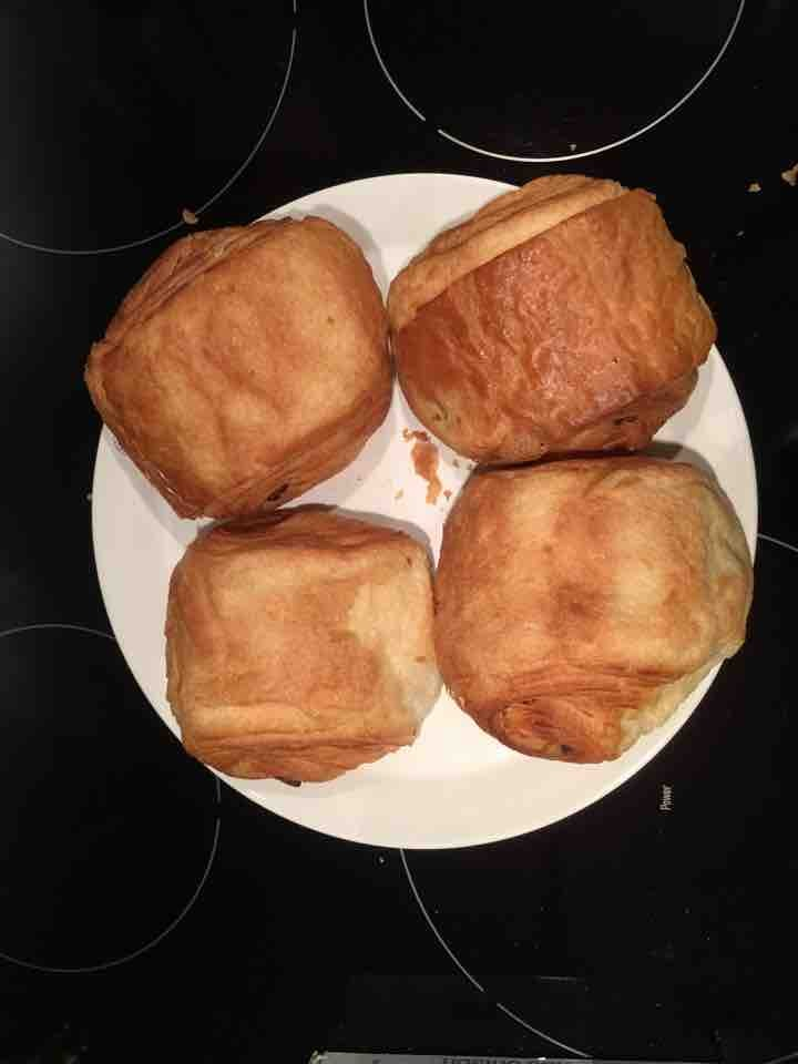 4 square chocolate croissants