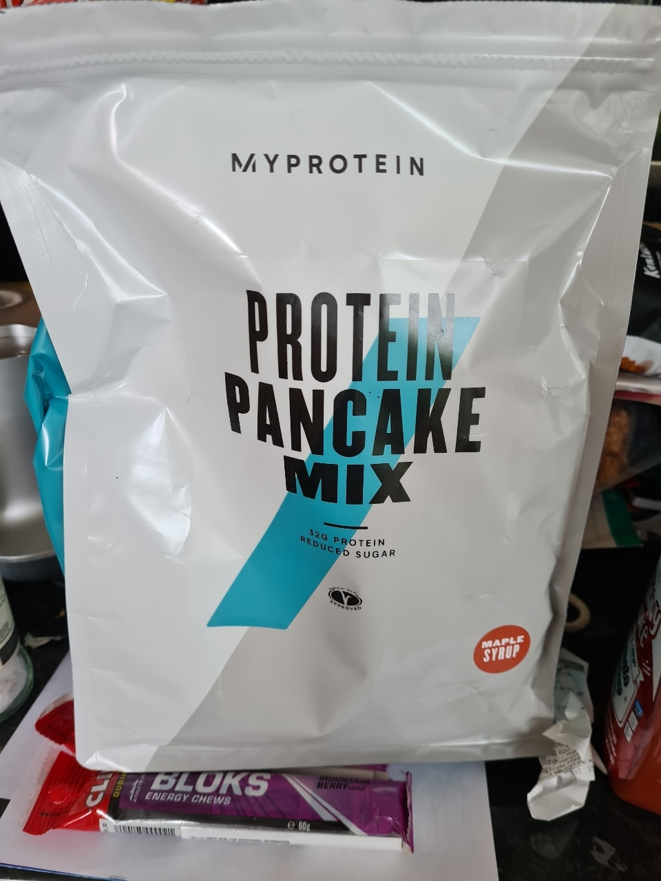 Maple syrup flavour protein pancake mix
