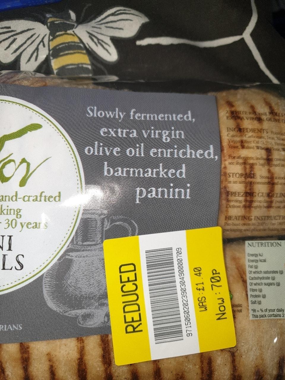 2 panini rolls