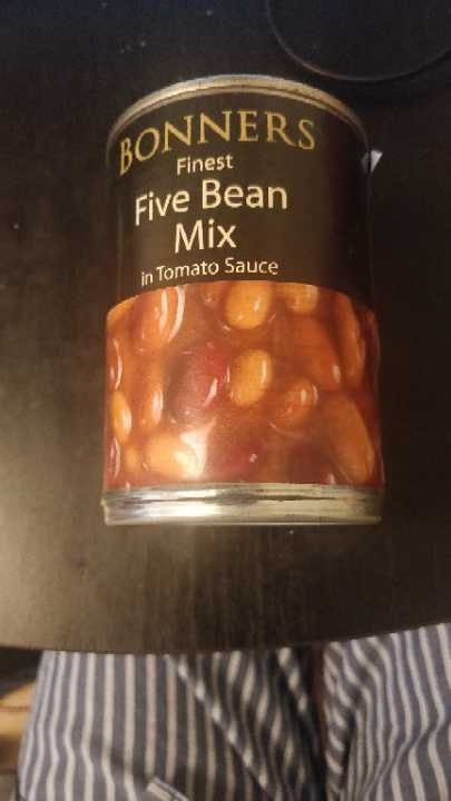 Five bean mix in Tomato Sauce