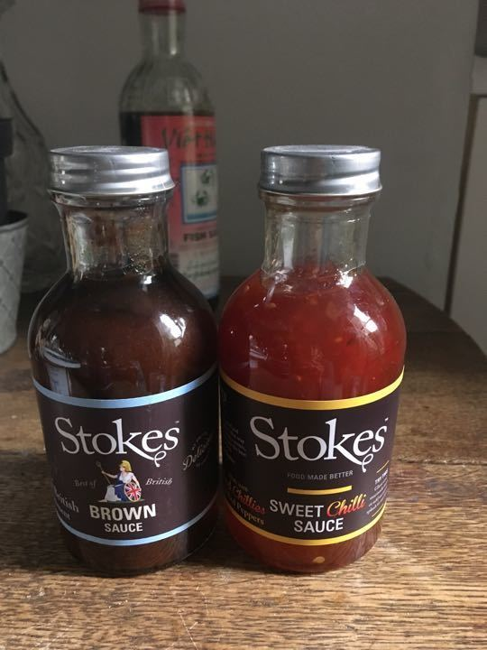 Sweet Chilli Sauce & Brown Sauce