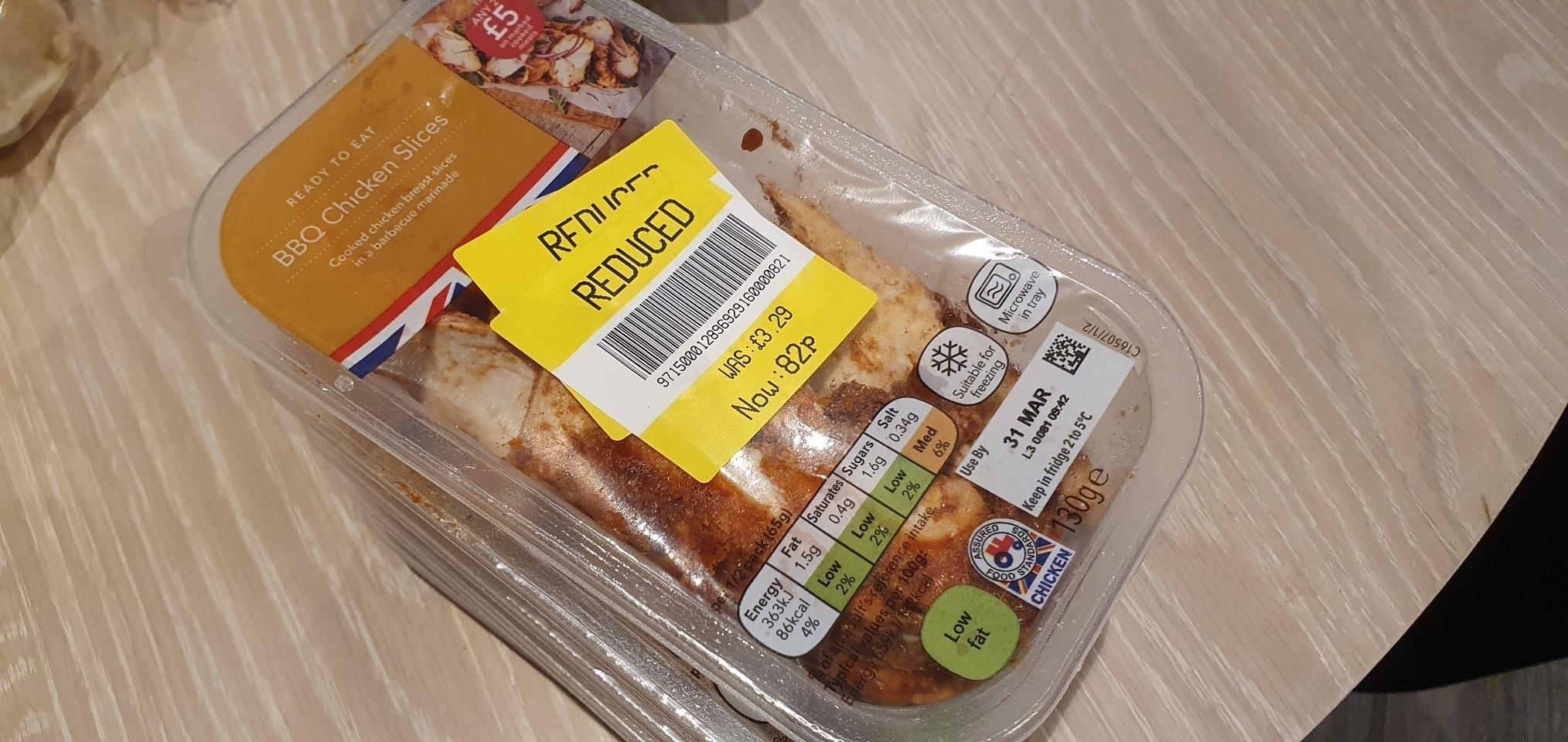 BBQ Chicken Slices