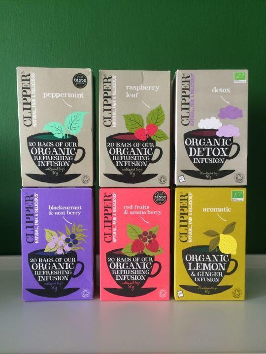 Mix of Clipper Organic Tea