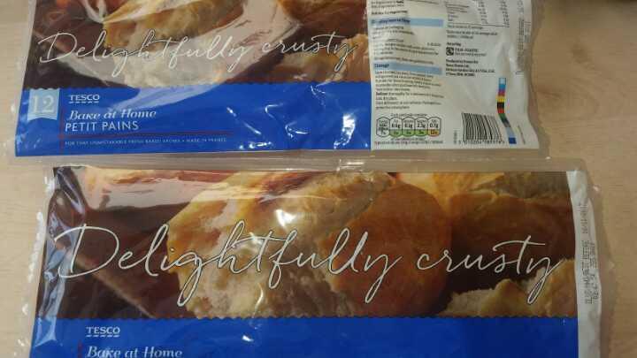 Part baked rolls