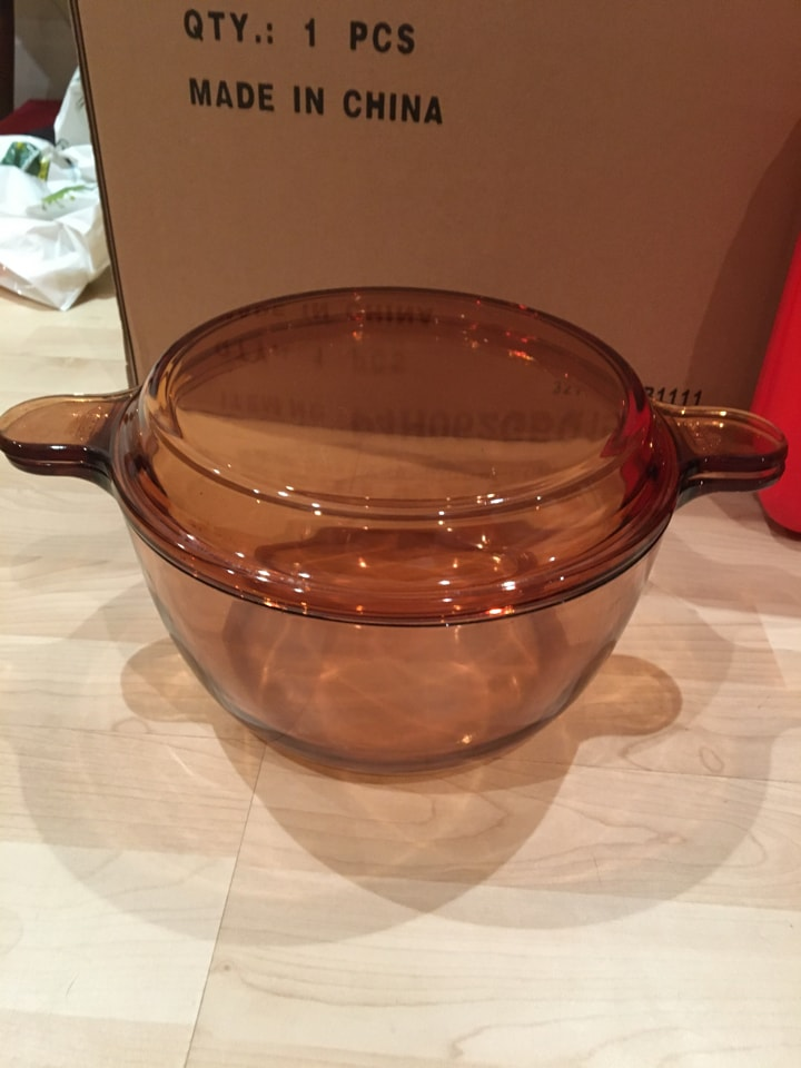 Brown Glass 3.5L Casserole dish with Lid