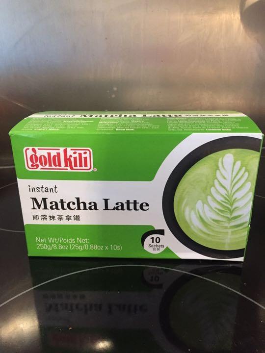 Matcha latte sachets