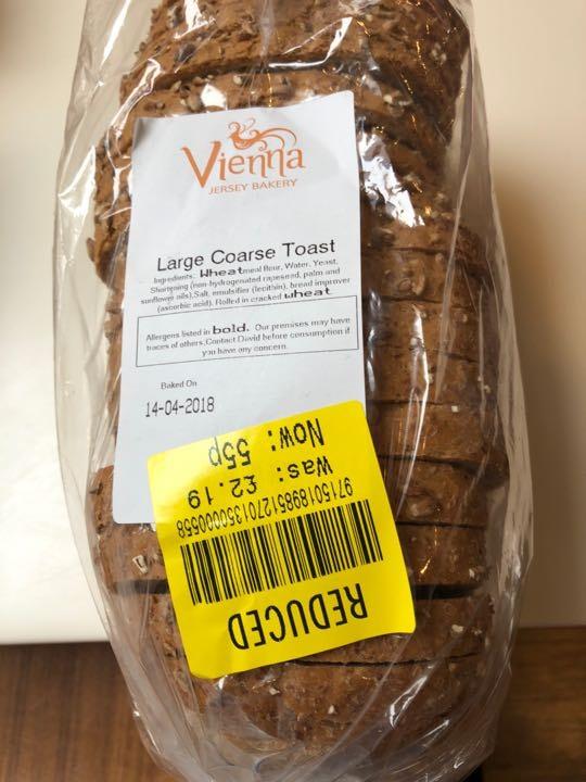 Large coarse toast