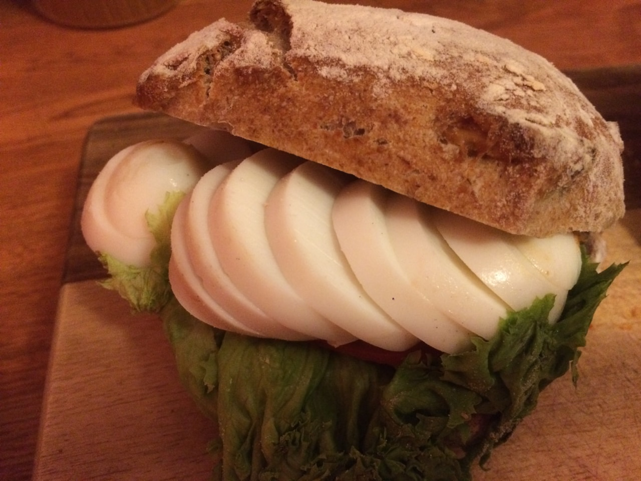 Fresh egg sandwich