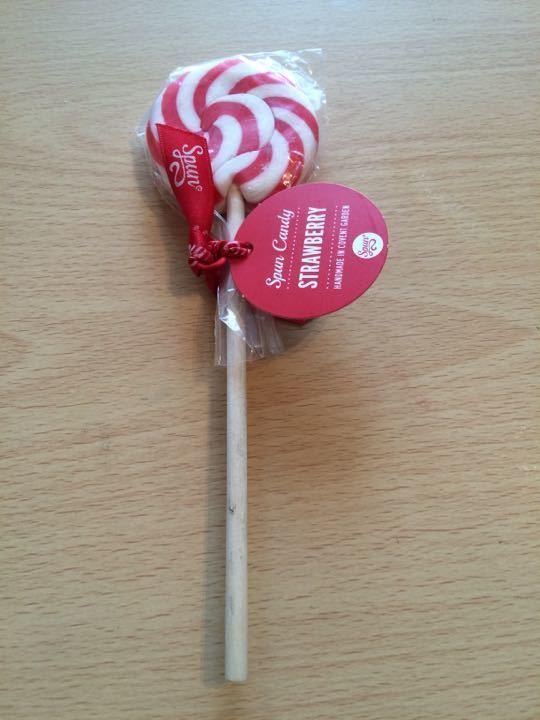Spun Candy Strawberry Lollipop