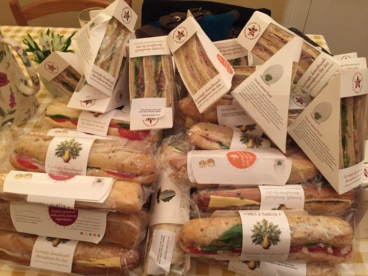 Sandwiches and baguettes
