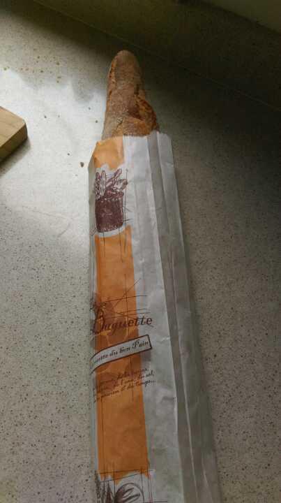 Fresh white baguette