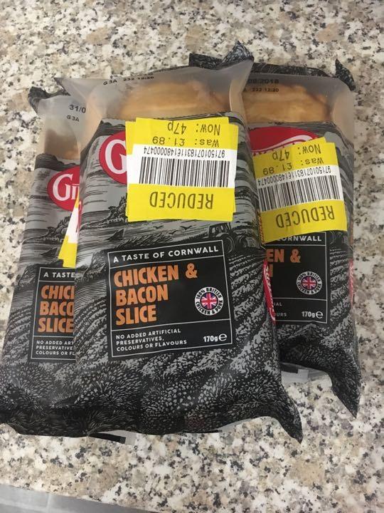 Chicken bacon slice