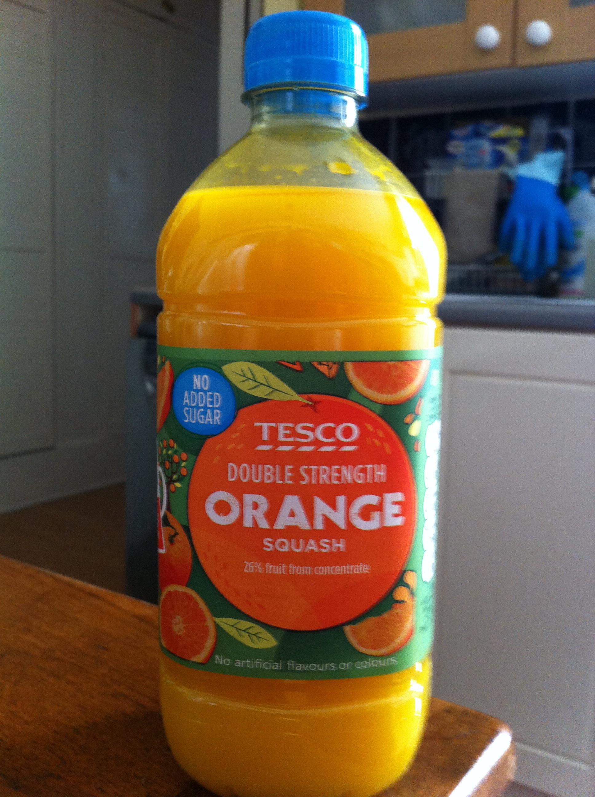 Tesco's orange squash