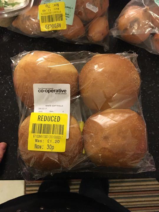 4pk white soft rolls