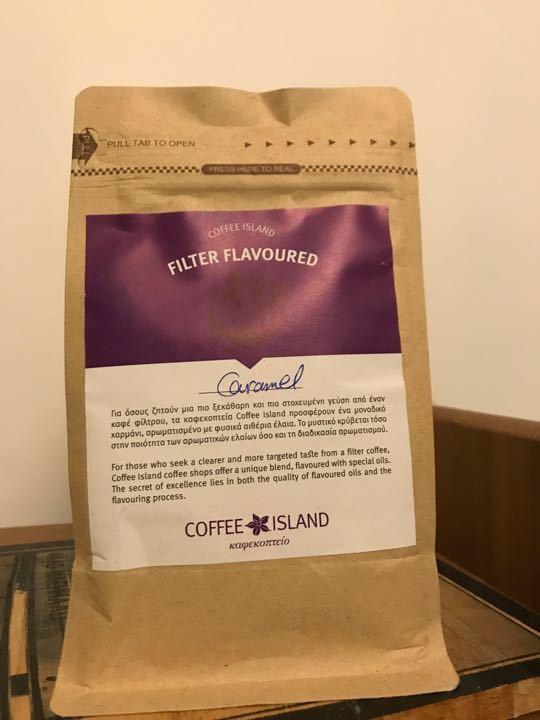 Vanilla and hazelnut ground coffee