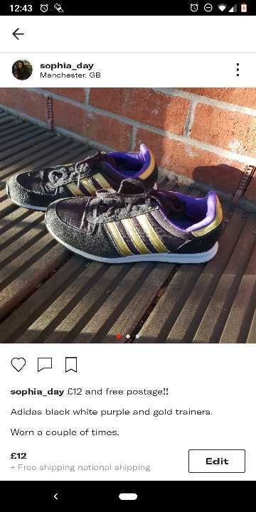 Addidas trainers in good condition size 5/black new balance size 4