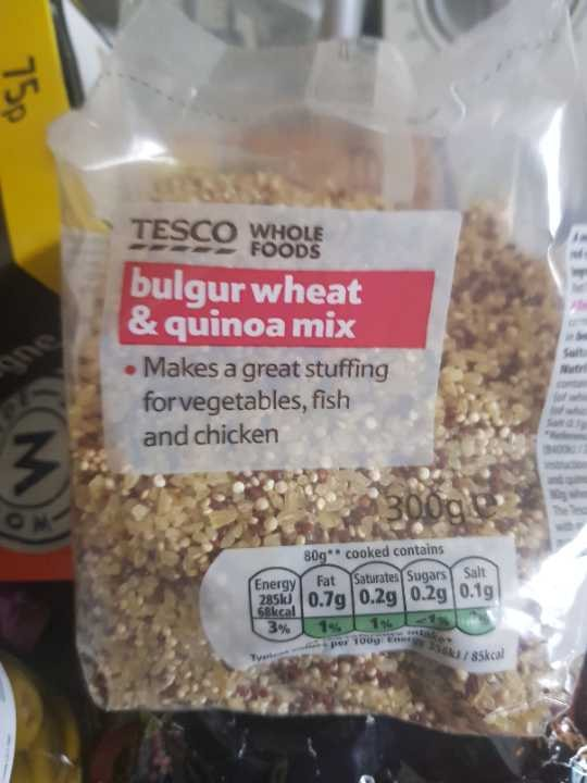 Quinoa and Bulgar Wheat