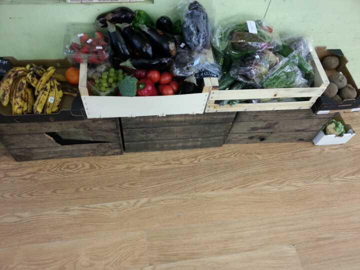 Fruit, veg greens, bread..
