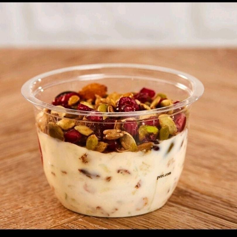 Honey granola yogurt from Pret