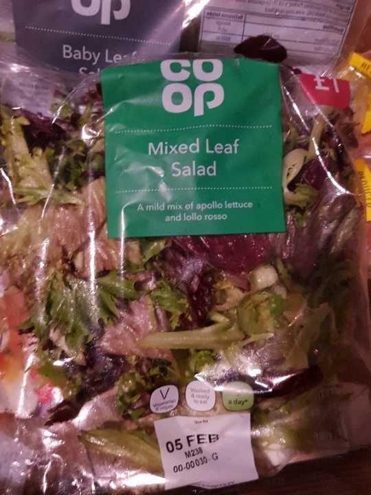 Mixed leaf salad - must collect tonight before 11pm