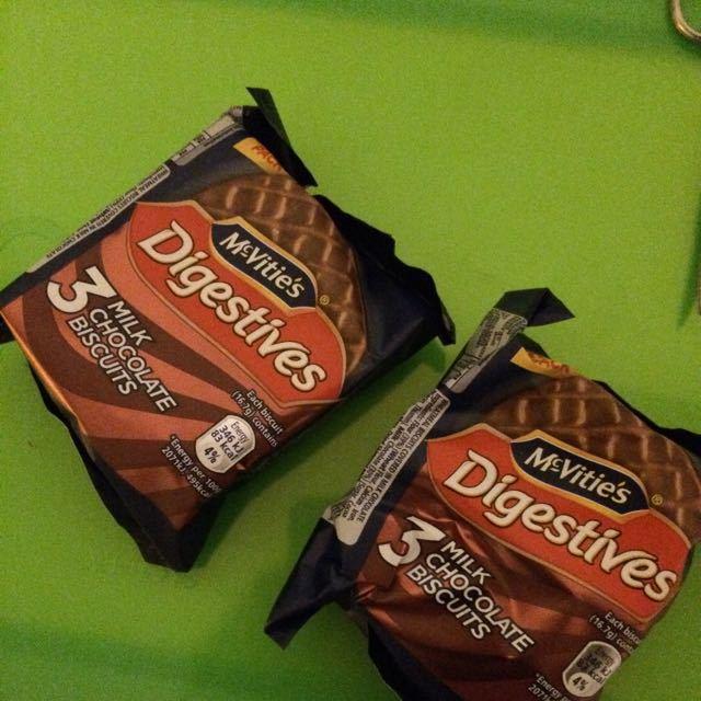6 milk digestives cookies
