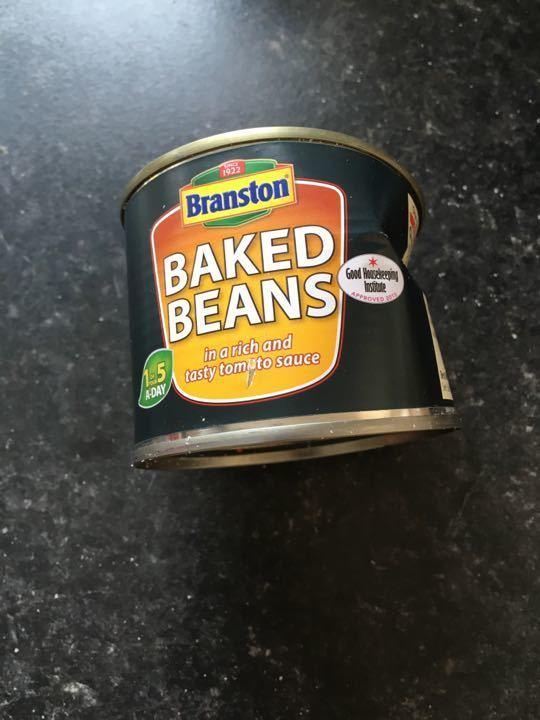 baked beans 220g (tin squashed)