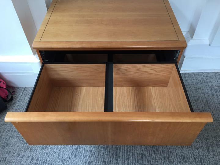 FREE - 2x WOODEN FILING CABINET for suspension files - office/home office